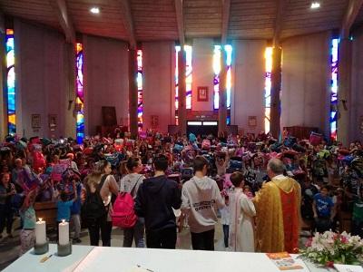 Quest'anno si è celebrata a Ciconia la Messa con gli studenti per la festa di San Francesco patrono d'Italia