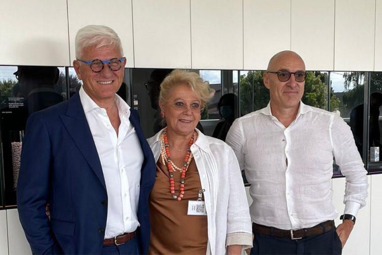 Walter Bertin (a sinistra), Fulvia Lazzarotto (al centro) Marco Grespigna (a destra)