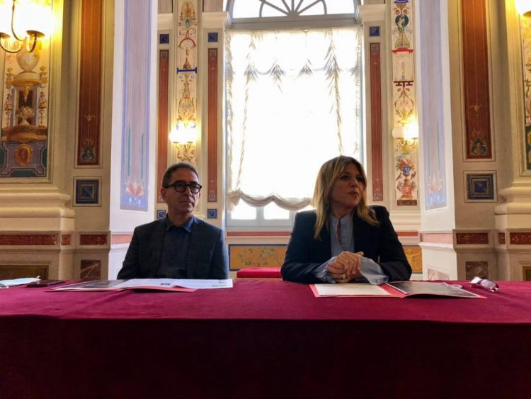 Pino Strabioli, direttore artistico del Teatro (a sinistra) e Roberta Tardani, sindaco di Orvieto